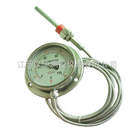 内径37mm壁挂炉用毛细管蒸汽压力表价格便宜