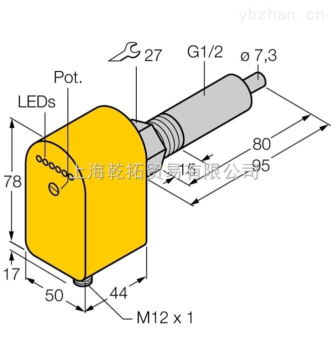 TURCK氣體傳感器FCS-G1/2A4P-AP8X-H1141/L080