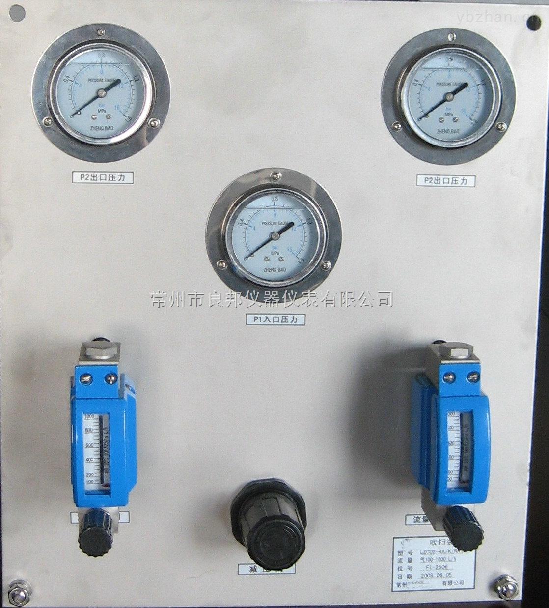 LZWB/RE-面板式吹扫装置流量计 双路微小气体流量稳定测量 出口压力调节