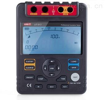 ut513绝缘电阻测试仪 兆欧表是一款智能型绝缘测试仪表,整机电路设计