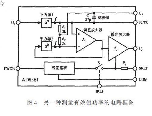 另一种测量真有效值功率的电路框图如图4所示